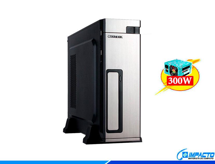 CASE MINI ANTRYX EXTREME XS-100 ( AC-XS100SC ) 300W | NEGRO C/ PLATA