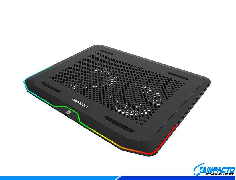 COOLER PARA LAPTOP DEEP COOL N80 RGB ( DP-N222-N80RGB ) LED- RGB
