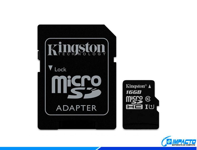 MEM. MICRO SD KINGSTON 16GB ( SDCS/16GB ) C/ CARD ADAPTADOR