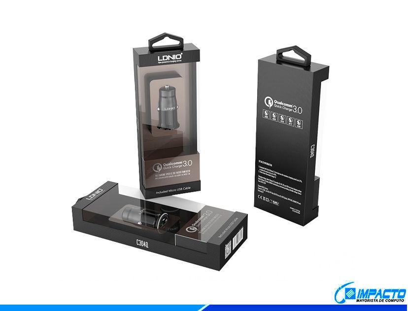 CARGADOR DE COCHES LDNIO QUALCOMM ( C304Q ) GRIS | 1 USB