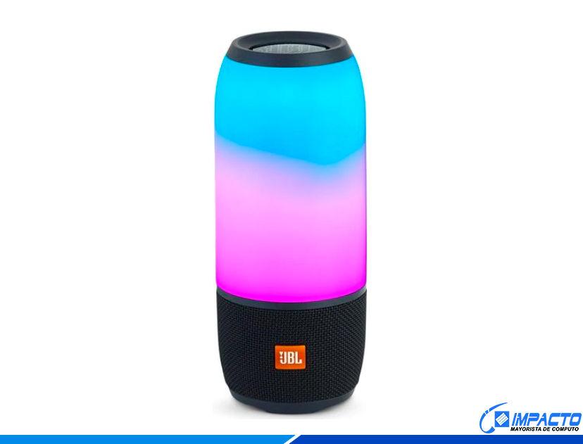 PARLANTE MINI INALAMBRICO PORTABLE JBL PULSE 3 ( JBLPULSE3BLKAM ) NEGRO | 20W | BT | APRUEBA DE AGUA | LED- RGB