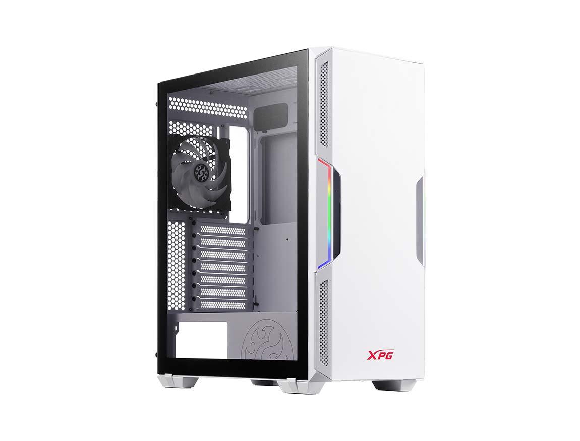 CASE XPG STARKER ( 15260039 ) 600W | BLANCO | 1 PANEL VIDRIO | LED - RGB