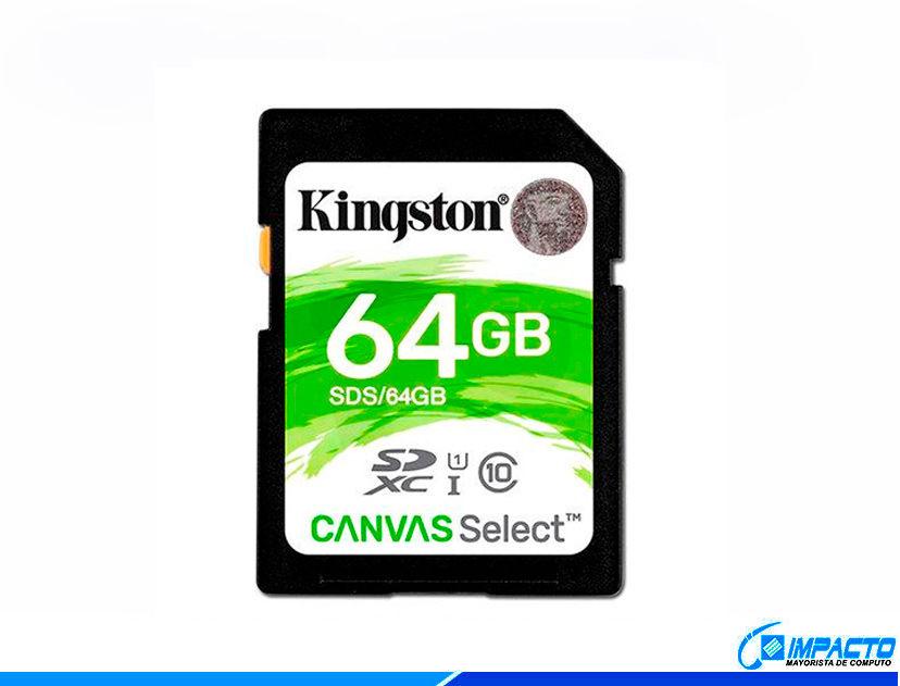 MEM. SDXC KINGSTON KANVAS 64GB ( SDS/64GB )