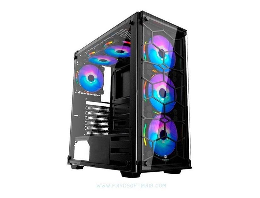 CASE HALION SPIDER ( SPIDER C907 ) 1 PANEL VIDRIO | LED- ARGB