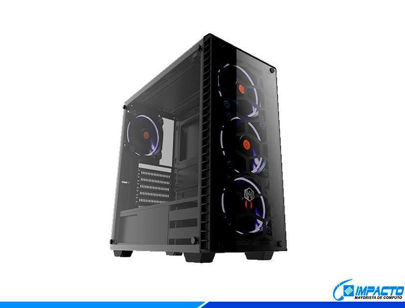 CASE HALION STINGRAY ( STINGRAY C3903 ) S/ FUENTE | 2 PANEL VIDRIO | 4 LED RGB