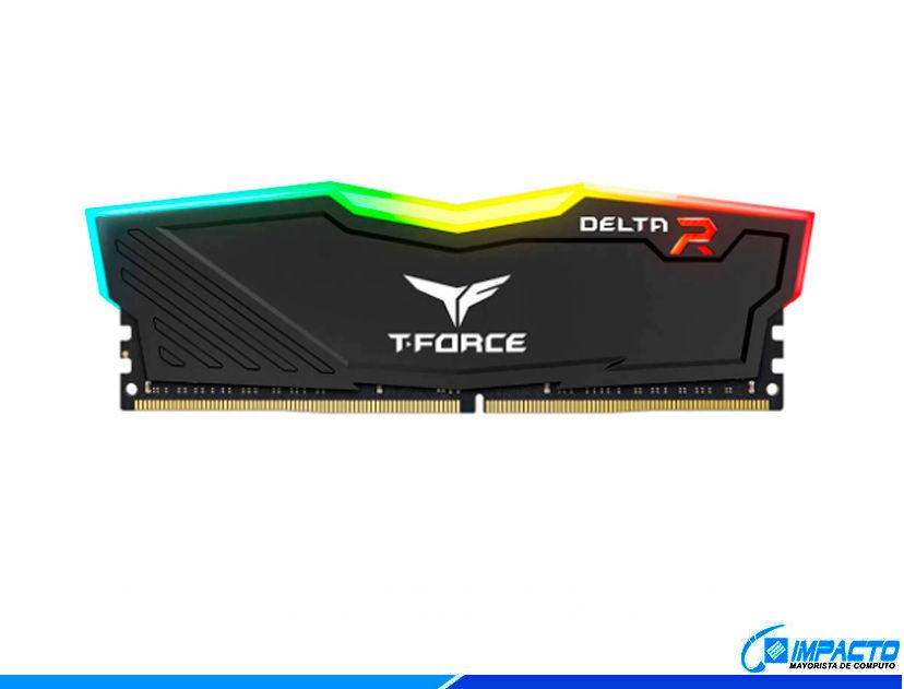 MEM. RAM TEAMGROUP T-FORCE DELTA DDR4 8GB/3000 ( TF3D48G3000HC16C01 ) NEGRO   LED- RGB