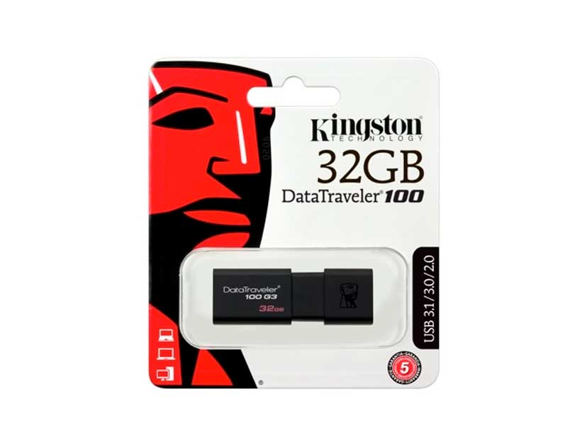 MEM. USB KINGSTON 32GB ( DT100G3/32GB ) DATATRAVELER 100
