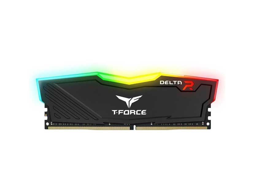 MEM. RAM TEAMGROUP T-FORCE DELTA DDR4 8GB/3200 ( TF3D48G3200HC16C01 ) NEGRO   LED- RGB