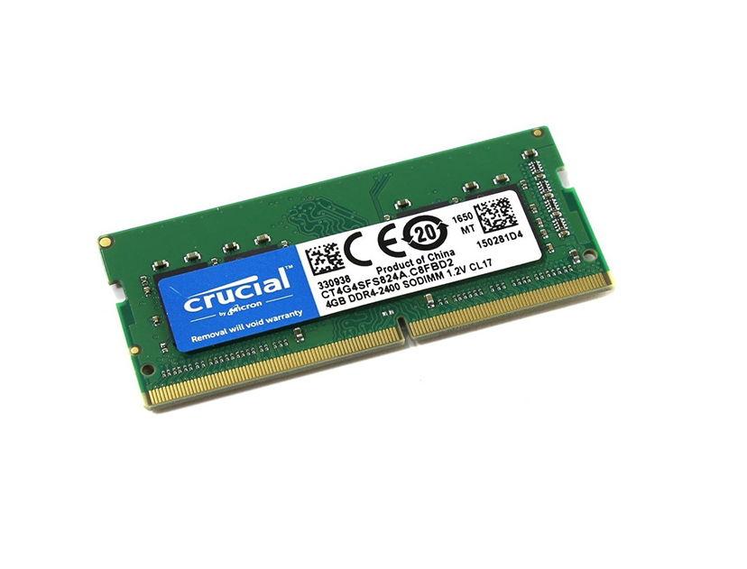 MEM. SODIMM CRUCIAL DDR4 4GB/2400 ( CT4G4SFS824A )