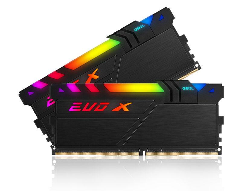 MEM. RAM GEIL EVO X II AMD EDITION DDR4 16GB(2X8)/3000 ( GAEXSY416GB3000C16ADC ) LED- RGB