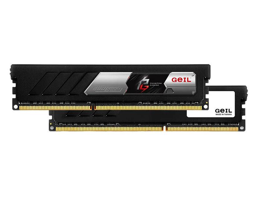 MEM. RAM GEIL EVO SPEAR PHANTOM DDR4 16GB(2X8)/3000 ( GASF416GB3000C16ADC ) NEGR