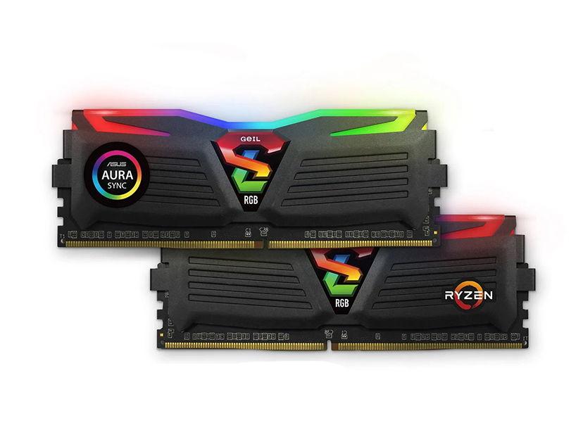 MEM. RAM GEIL SUPER LUCE DDR4 16GB(2X8)/3000 ( GALS416GB3000C16ADC ) NEGRO | LED -RGB
