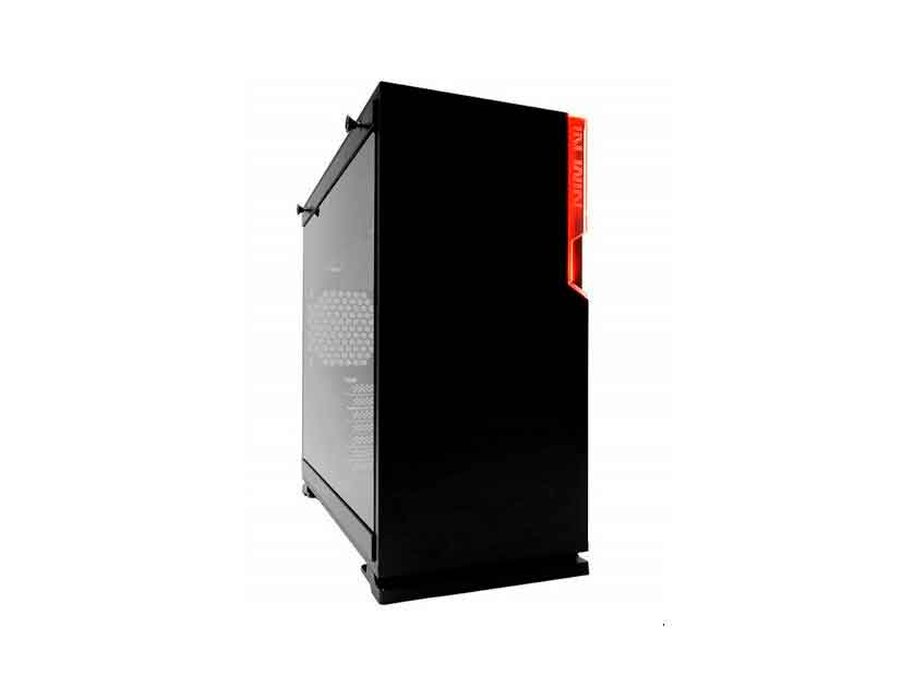 CASE IN WIN 101 ( 101 BLACK ) S/ FUENTE | NEGRO | 1 PANEL VIDRIO | LED- ROJO