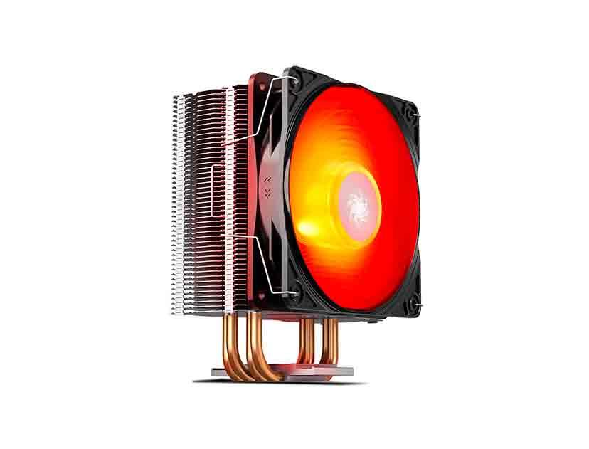 COOLER PROC. DEEP COOL GAMMAXX 400 V2 RED ( DP-MCH4-GMX400V2-RD ) LED- ROJO