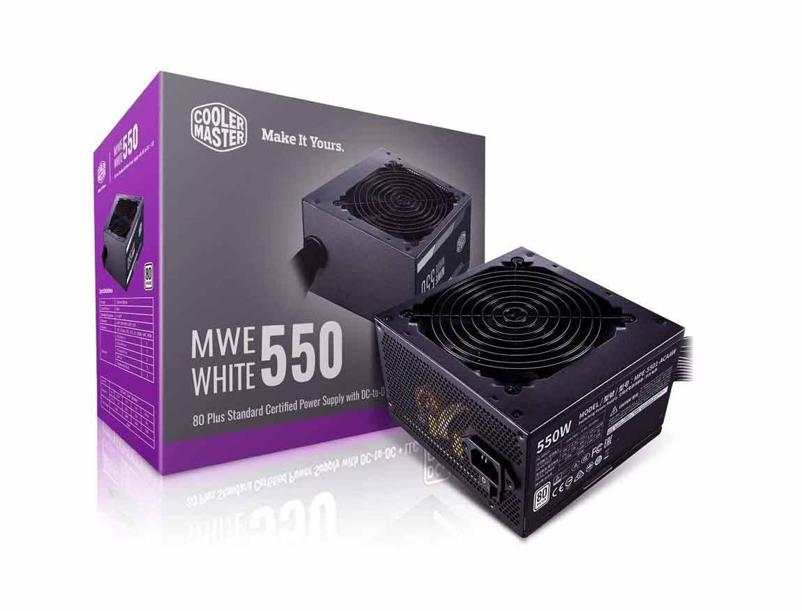 FUENTE COOLER MASTER MWE 550 WHITE - V2 ( MPE-5501-ACAAW-US ) 550W