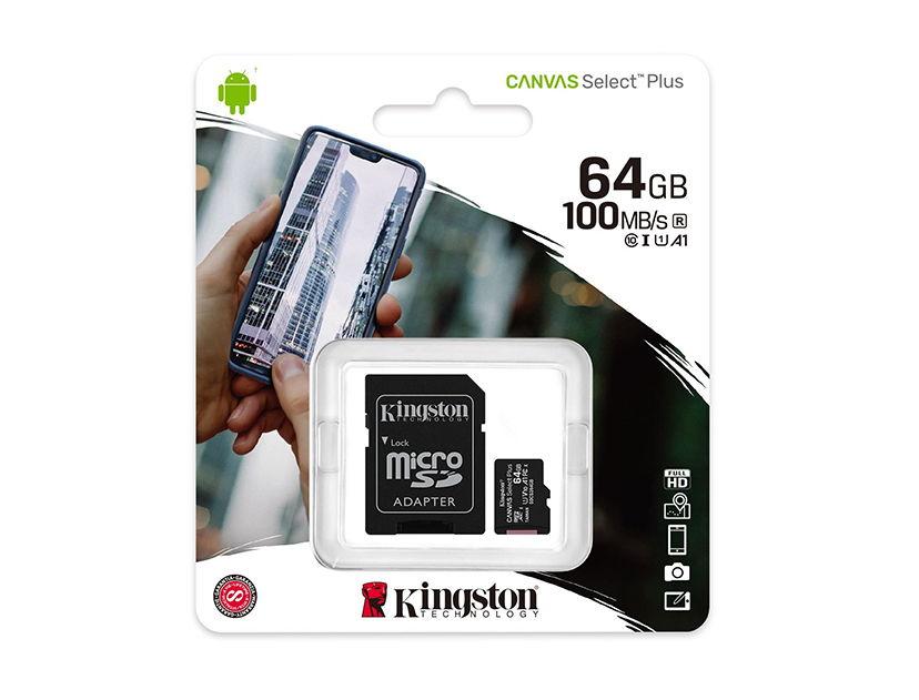 MEM. MICRO SD KINGSTON 64GB ( SDCS2/64GB ) C/ CARD ADAPTADOR