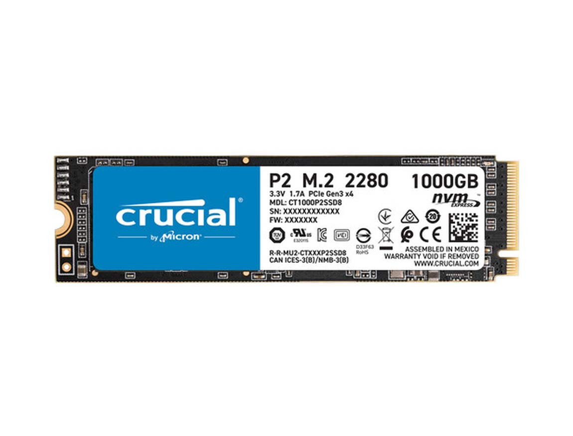 SSD  M.2 SOLIDO CRUCIAL P2 1TB ( CT1000P2SSD8 ) NVME