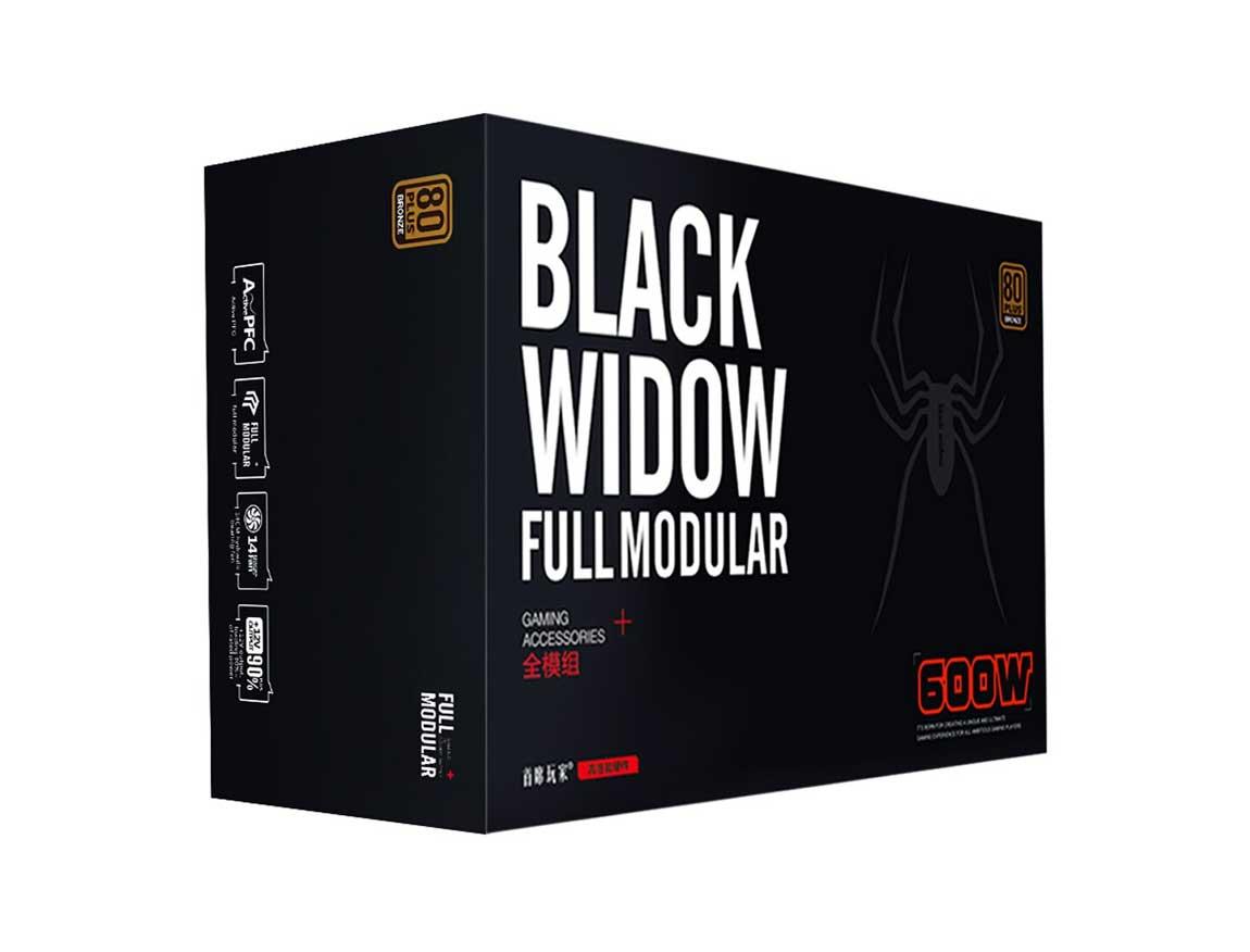 FUENTE 1STPLAYER BLACK WIDOW ( PS-600AX ) 600W | BRONZE | MODULAR