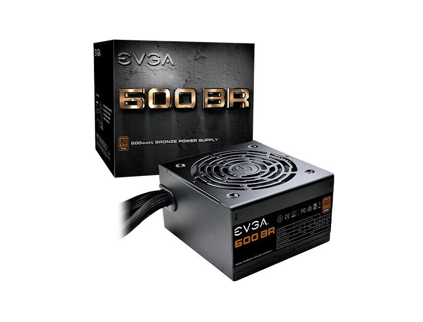 FUENTE EVGA 600 BR ( 100-BR-0600-K1 ) 600W   BRONZE