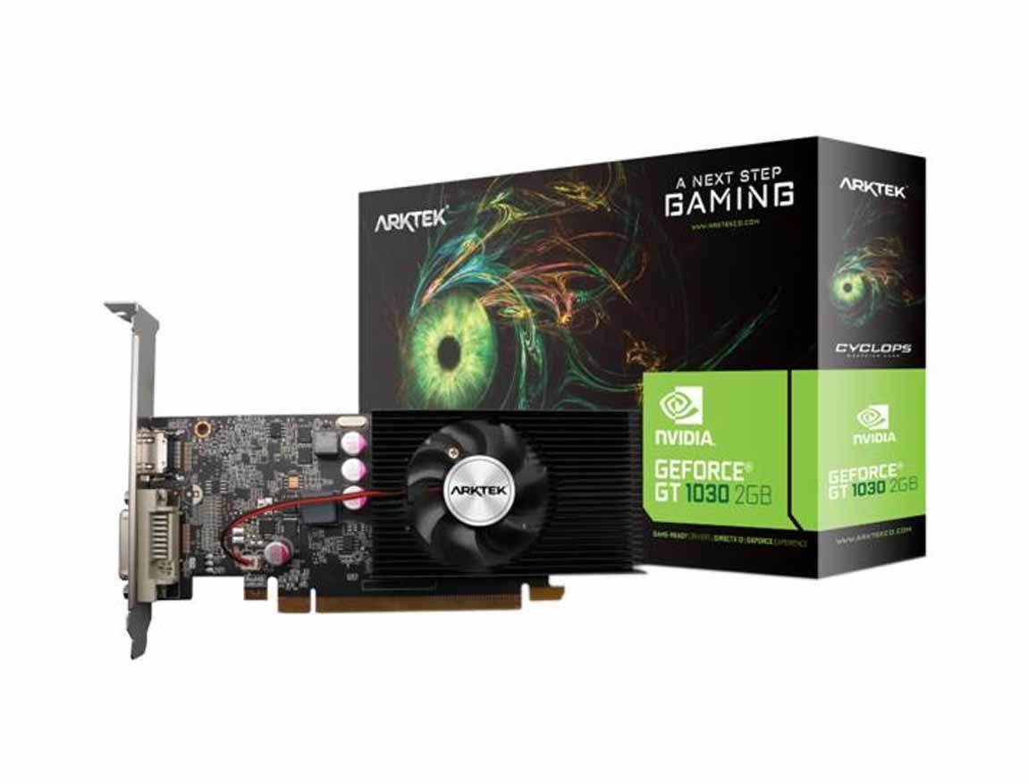 TARJ. VIDEO ARKTEK CYCLOPS GEFORCE GT 1030 2GB DDR5 ( AKN1030D5S2GL1 ) 64 BIT