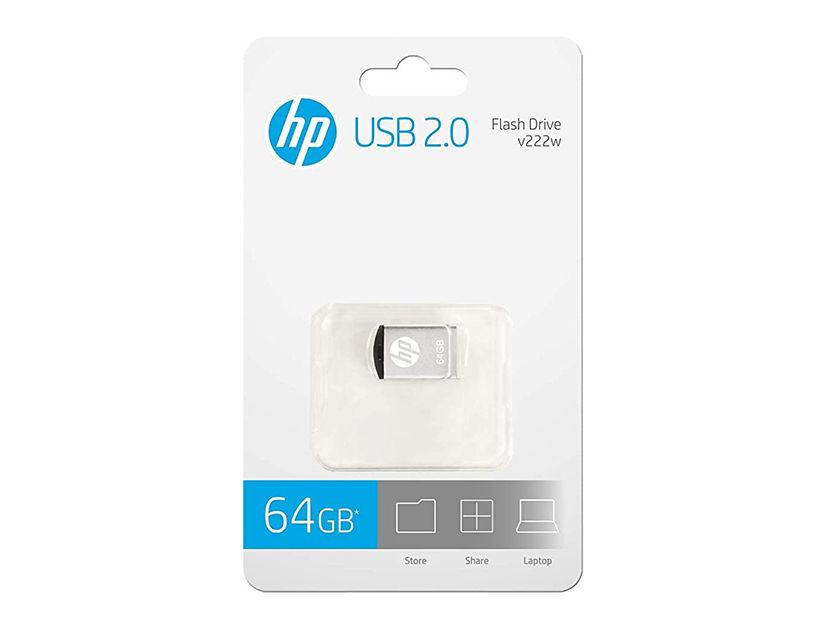 MEM. USB HP V222W 64GB ( HPFD222W-64 ) PLATA