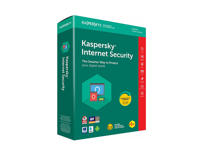 ANTIVIRUS KASPERSKY INTERNET SECURITY ( TMKSR-080 ) 2018 | 1 PC