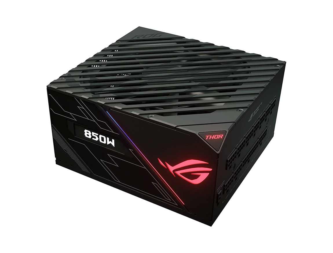 FUENTE ASUS ROG THOR 850P ( 90YE0090-B001A0 ) 850W | PLATINUM | MODULAR | LED- RGB