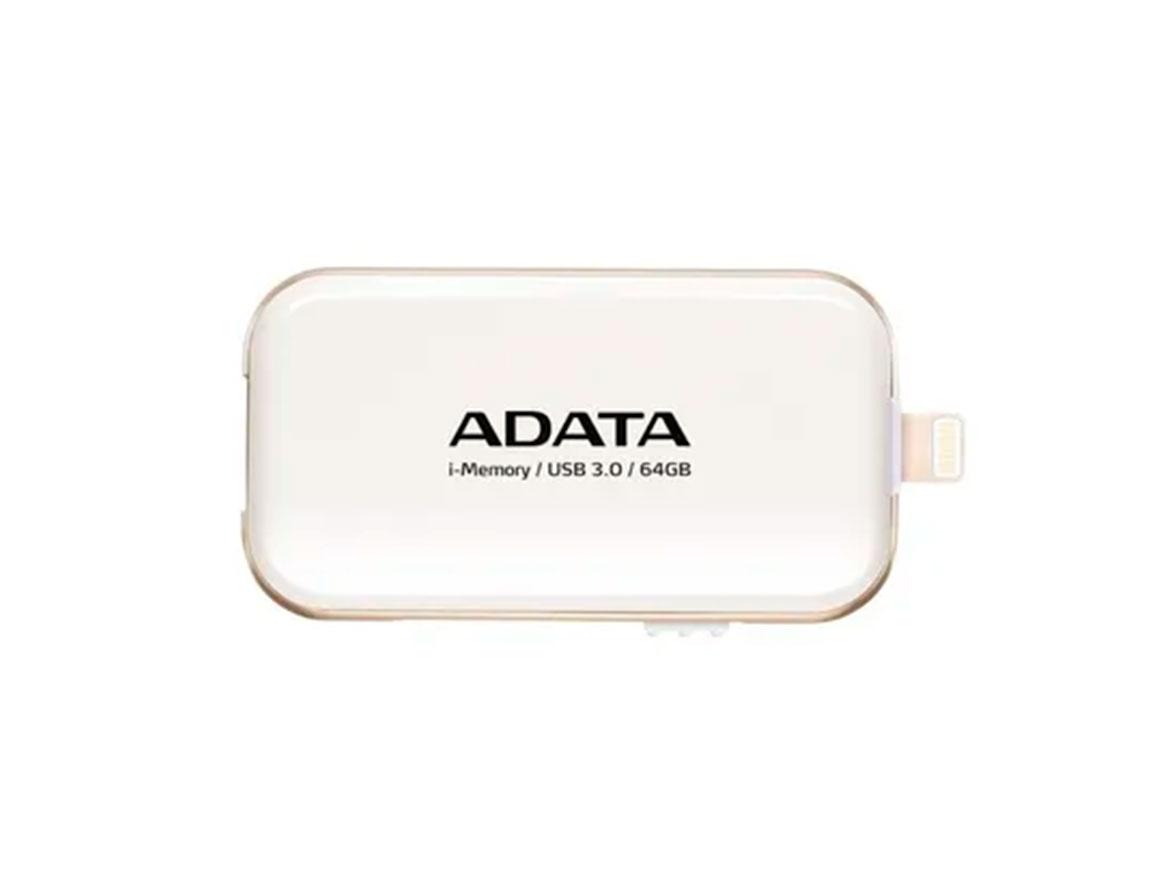 MEM. USB ADATA 64GB ( AUE710-64G-CWH ) BLANCO | 3.0 | P/ IPOD - IPHONE - IPAD -