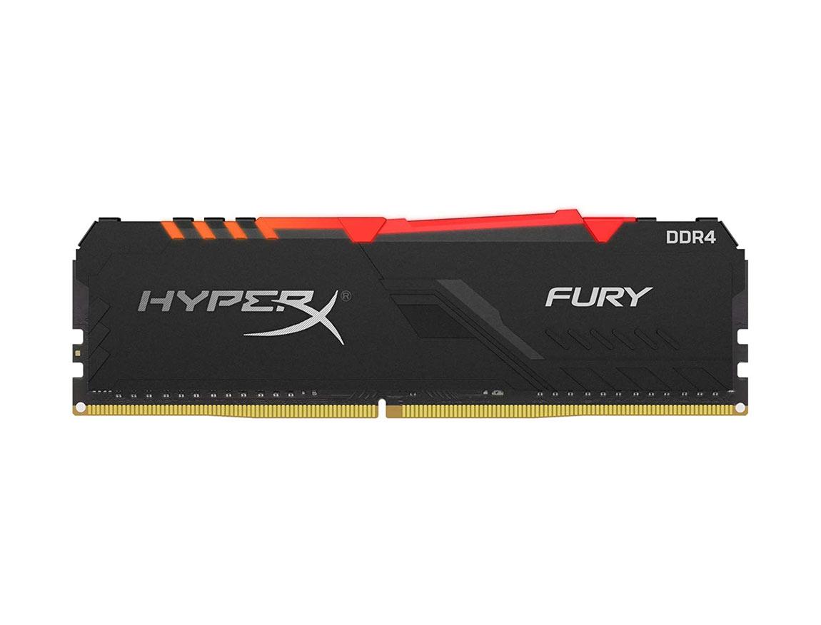 MEM. RAM HYPERX FURY DDR4 16GB/3200 ( HX432C16FB4A/16 ) NEGRO | LED -RGB