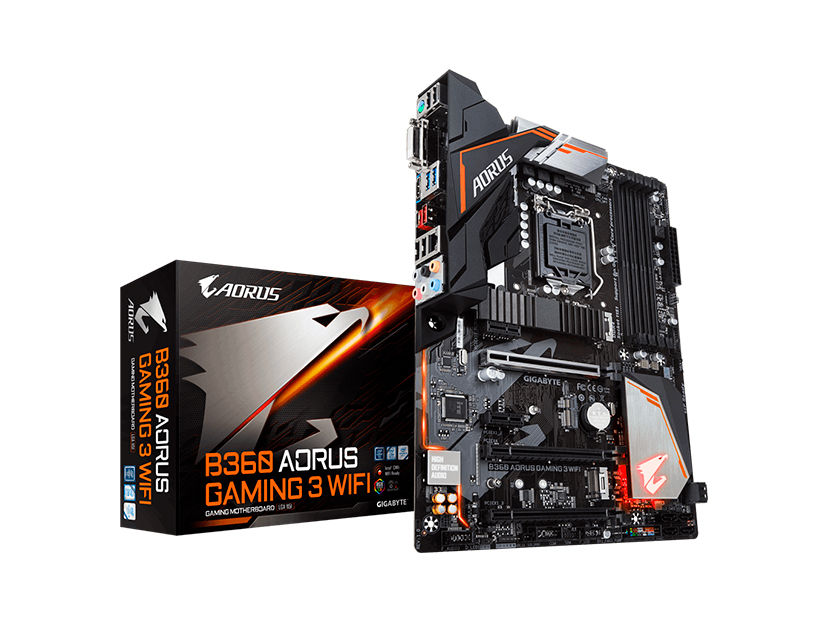 MB GIGABYTE B360 AORUS GAMING 3 WIFI ( B360 AORUS GAMING 3 WIFI ) LGA 1151 | LED- RGB