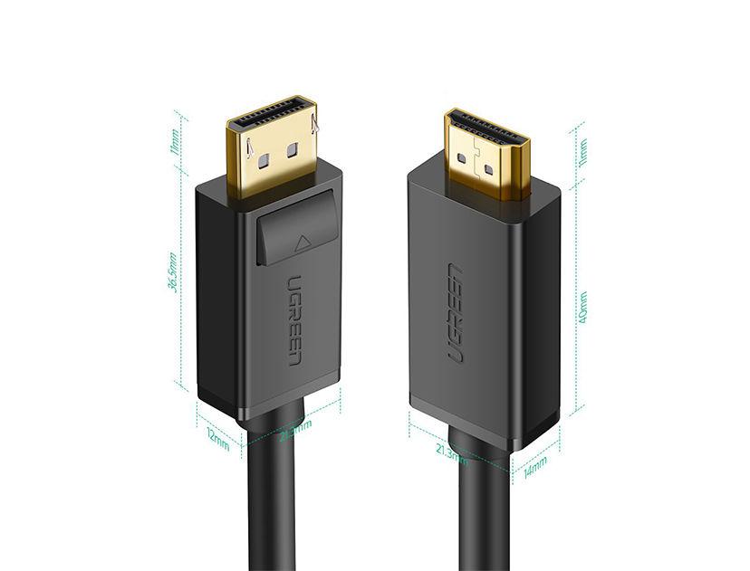 CABLE ADAPTADOR UGREEN  [ CABLE DP - A - HDMI ] ( 6957303812028 ) 2 METROS