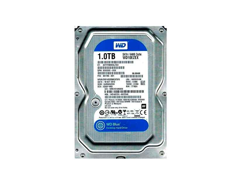 HDD  WESTER DIGITAL 1TB ( WD10EZEX ) AZUL | 64MB | 7200RPM