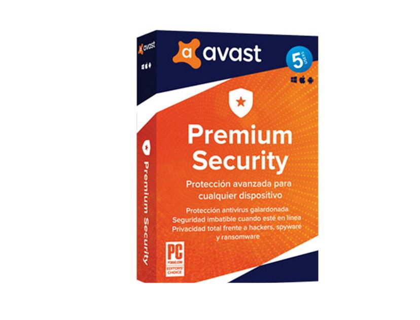 ANTIVIRUS AVAST PREMIUM SECURITY ( 5USER ) 5 PCS | 12 MESES
