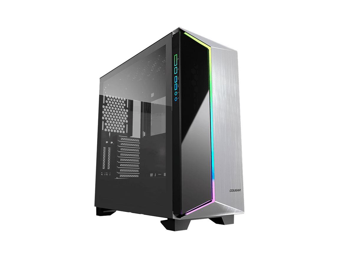 CASE COUGAR DARK BLADER G ( 3858M30.0002 ) S/ FUENTE | NEGRO | 2 PANEL VIDRIO | LED- RGB