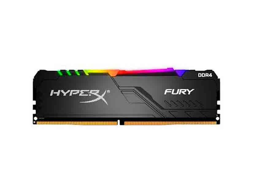 MEM. RAM HYPERX FURY DDR4 8GB/2666 ( HX426C16FB3A/8 ) LED- RGB