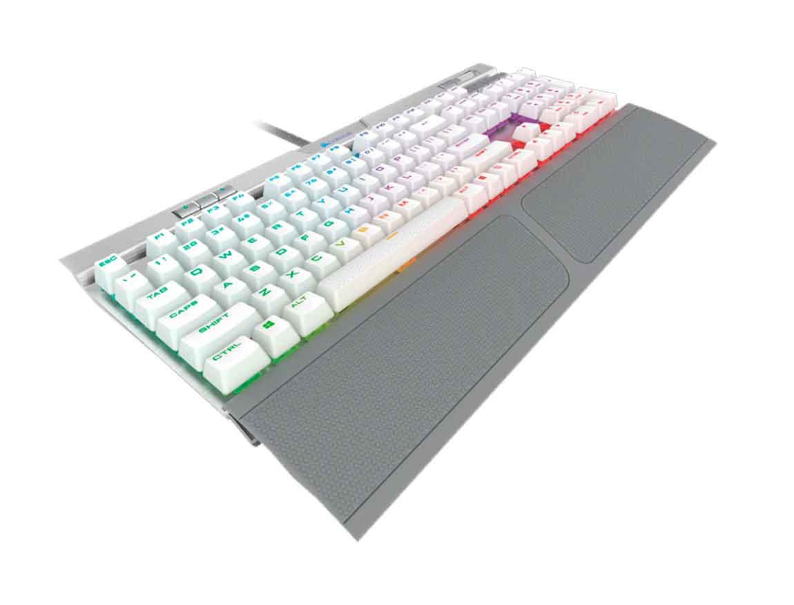 TECLADO CORSAIR K70 RGB MK.2 SE ( CH-9109114-NA ) GAMING | BLANCO C/ GRIS | MECANICO |  LED- RGB