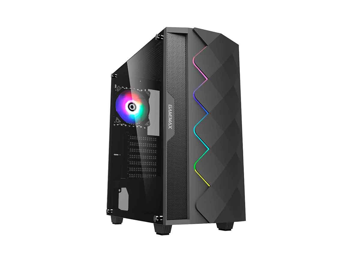 CASE GAMEMAX BLACK DIAMOND ( A361 ) 550W | NEGRO | 1 PANEL VIDRIO | LED- RGB