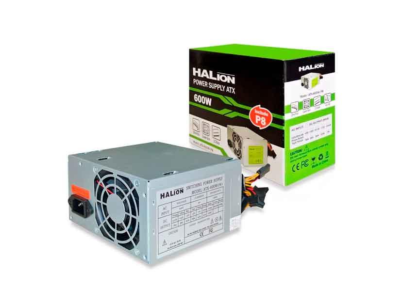 FUENTE HALION ( ATX-600W P8 ) 600W