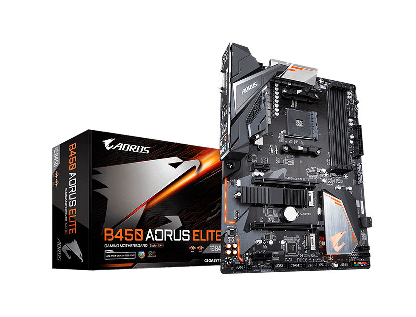 MB GIGABYTE B450 AORUS ELITE ( B450 AORUS ELITE ) AM4 | LED- RGB