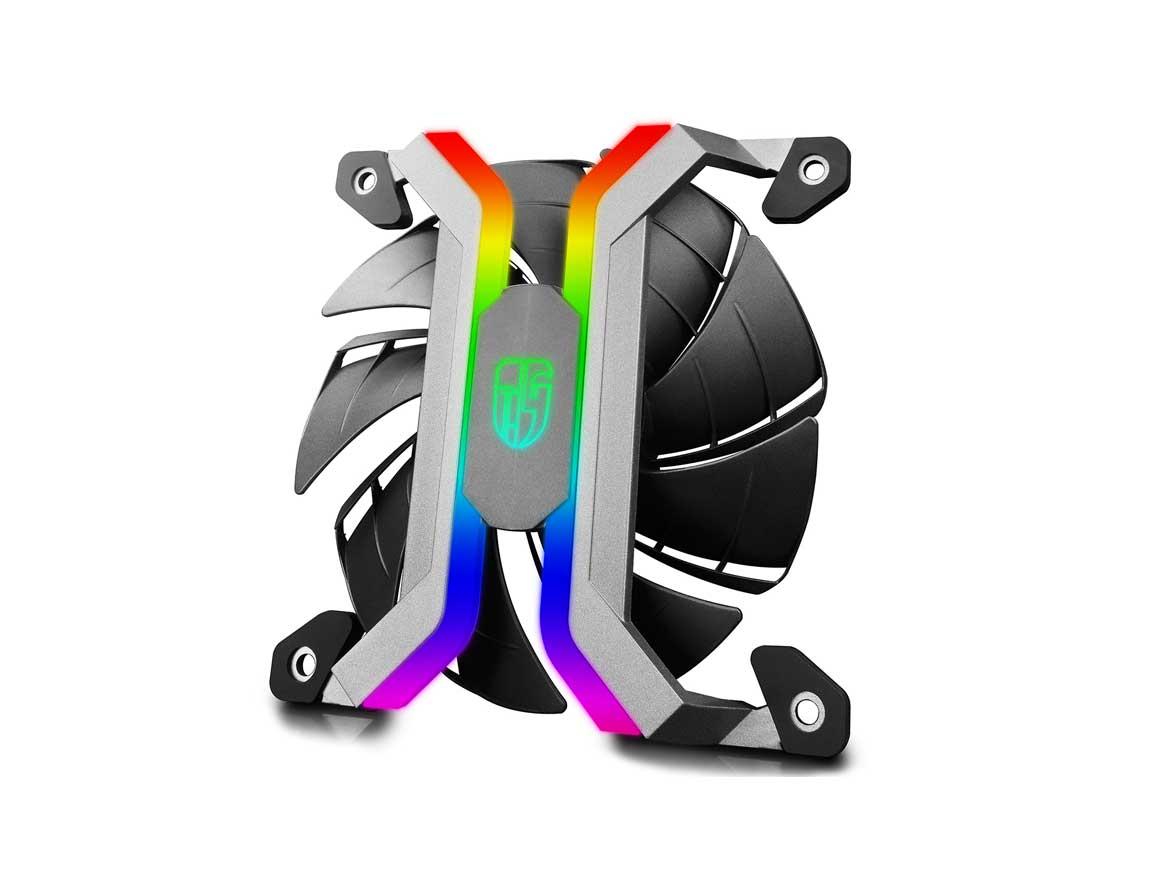 COOLER PARA CASE GAMER STORM MF120S ( DPGS-FMF120S-M-3P ) PACK 3 | 120MM | LED- RGB |