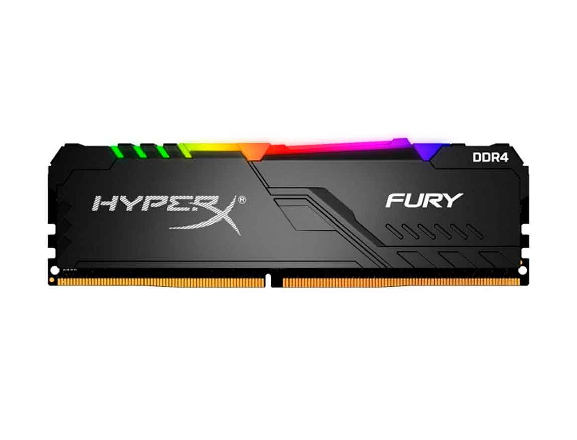 MEM. RAM HYPERX FURY DDR4 16GB/3000 ( HX430C15FB3A/16 ) NEGRO | LED- RGB