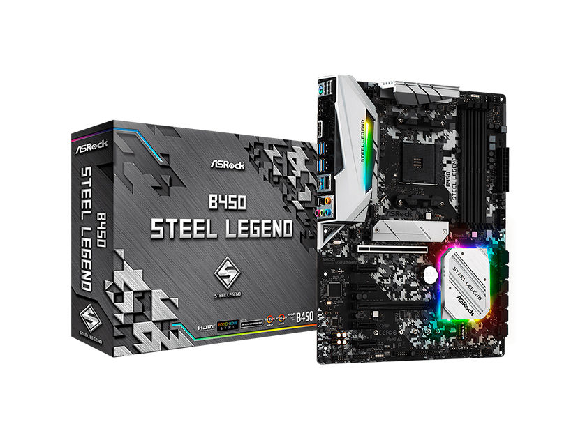 MB ASROCK B450 STEEL LEGEND ( 90-MXBA00-A0UAYZ ) AM4 | LED- RGB