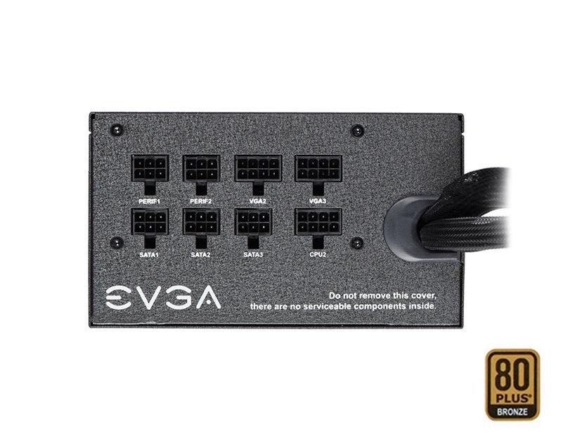 FUENTE EVGA 850BQ ( 110-BQ-0850-V1 ) 850W   BRONZE   SEMI- MODULAR