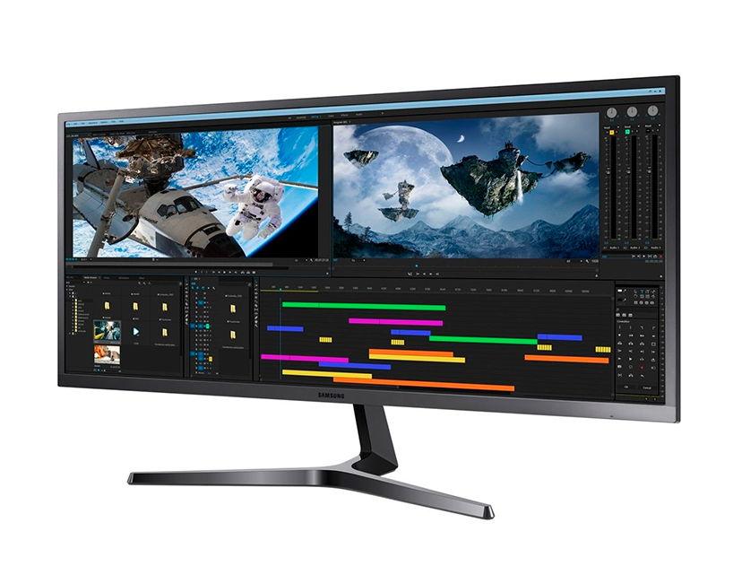 """MONITOR SAMSUNG LED 34"""" CJ55W ( S34J550WQL ) 2 HDMI - DP (3440X1440)"""