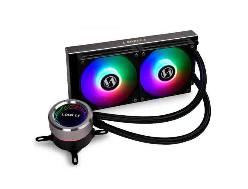 SISTEMA DE ENFRIAMIENTO LIQUIDO LIAN LI GALAHAD 240 BLACK ( GA-240B ) LED- RGB