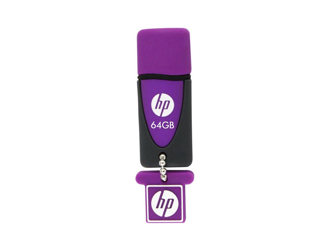MEM. USB HP V245L 64GB ( HPFD245L-64 ) PURPURA C/ NEGRO