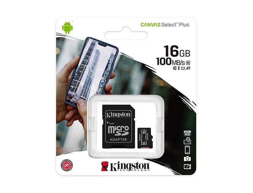 MEM. MICRO SD KINGSTON 16GB ( SDCS2/16GB ) C/ CARD ADAPTADOR | CLASS 10