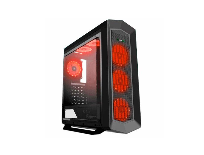 CASE GAMEMAX ASGARD ( ASGARD RED ) 550W | 1 PANEL ACRILICO | LED- ROJO