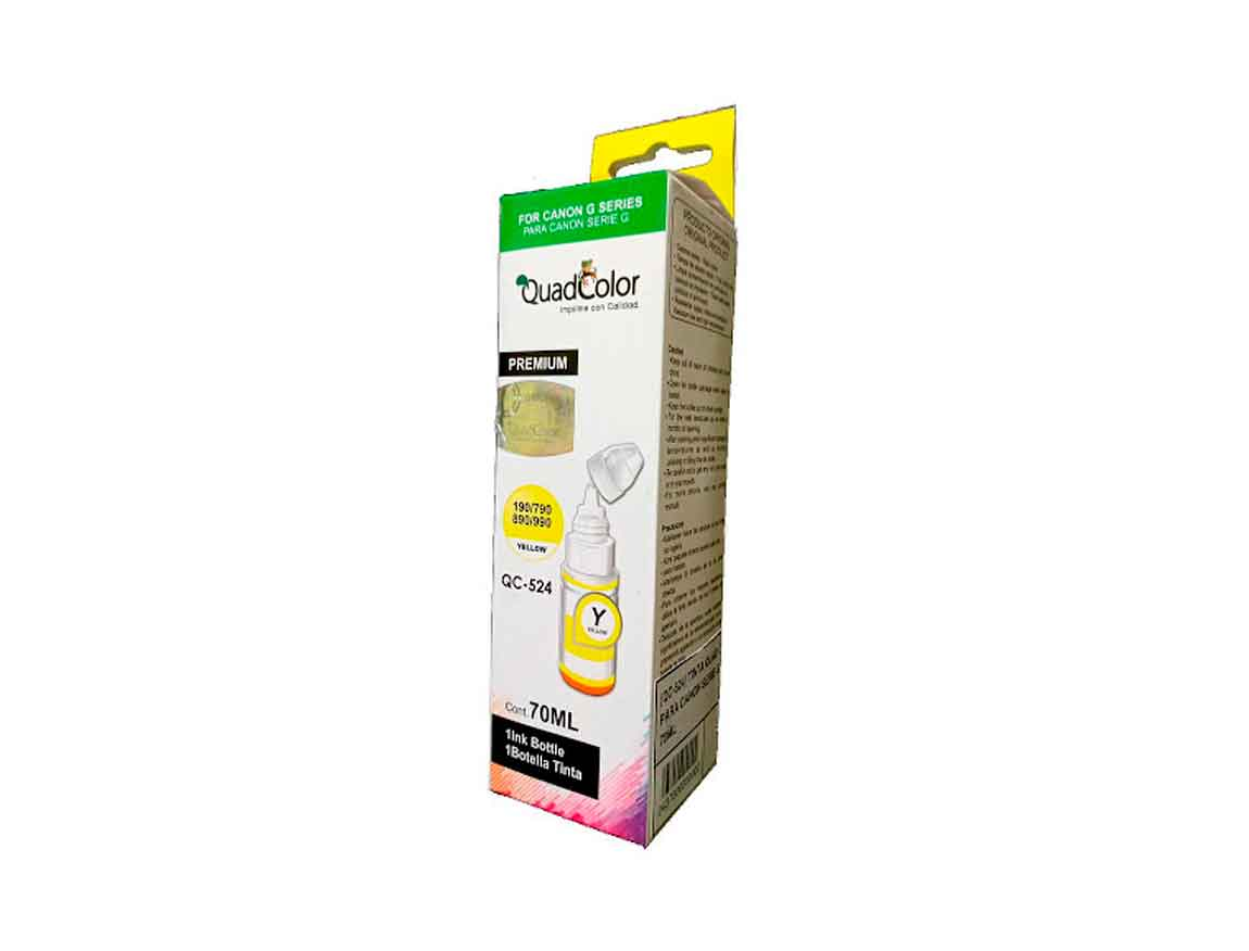 TINTA COMPATIBLE CANON QUADCOLOR QC-524 AMARILLO ( QC-524 ) SERIE G
