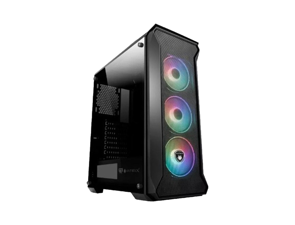 CASE ANTRYX FX SENTRY ( AC-FX260K-T3DR ) S/FUENTE | NEGRO | 1 VENTANA ACRILICO | | LED- ARGB X3|